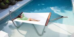 Air Lounge Contemporary & Comfortable Hammock  When it comes to real quality outdoor lounging nothing beats the carefree floating feeling of a great hammock. The Air Lounge from TUUCI I think gets some extra points for not only comfort but cool looks as well. These days backyard decorating has become far beyond what it once was and with that some great patio furniture has surfaced with arrangements for outdoor kitchens and seating areas that could easily make the cut as interior furnishings.