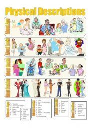 English worksheet: Physical Descriptions Picture Dictionary