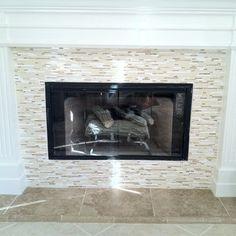 New Mosaic Tile Fireplace   Yelp