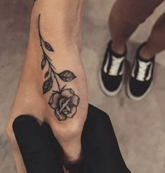 rose tattoo + vans old skool #RoseTattooIdeas