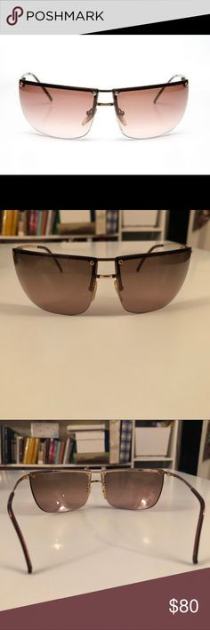 Gucci Sunglasses Gucci 2652/S Rimmed sunglasses  Slight pink tint, frame is brown gold Like new, no visible marks or scratches, comes with case Gucci Accessories Glasses