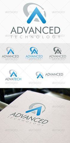 Advanced Technology - Logo Design Template Vector #logotype Download it here: http://graphicriver.net/item/advanced-technology-logo/3365337?s_rank=170?ref=nexion