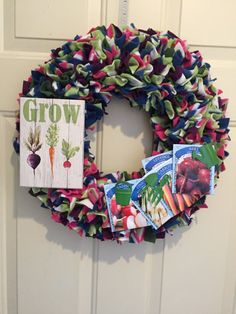 Gardener Wreath Summer Wreath Gardening by MOSTaDOORableWREATHS