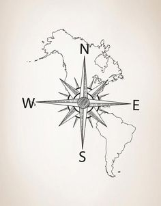 Nautical Map of North & South America w/ Compass Vinyl Wall Decal Seekarte von Nord- und Südamerika mit Kompass-Vinyl-Wandtattoo # 6018 North And South America, North South, Decoupage, Filipino Tattoos, New Interior Design, Diy Network, Wall Decal Sticker, Sleeve Tattoos, Maori Tattoos