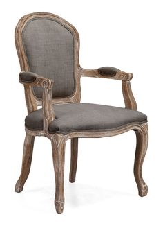 Hyde Dining Chair Charcoal Gray Faintly Versailles-inspired, the Hyde Chair is a symphony of linen and oak. Features a sweeping silhouette and chunky yet elegant carving. Perfect for any modern-day Marie Antoinettes you invite for tea.<br><br>Dimensions: 24W, 22D, 38.8H