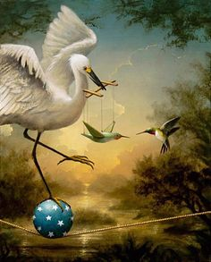 Afbeelding van http://webneel.com/daily/sites/default/files/images/daily/07-2013/8-birds-surreal-painting-by-kevin-sloan.jpg.