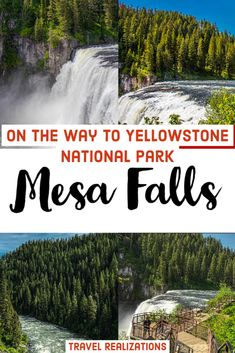 The Upper and Lower Mesa Falls on the way to the Yellowstone National Park from Idaho is a must-see place for nature lovers. Wrapped in wilderness and calm, the Mesa falls will instantly uplift your mood anytime. #westyellowstone #mesafalls #idaho #usa #travelinspiration #waterfall #usinterior Usa Travel Guide, Travel Usa, Travel Guides, Travel Tips, Paris Travel, Yellowstone National Park, National Parks, Canada Travel, Alaska Travel