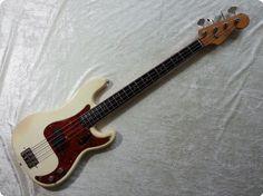 1963 Pre-CBS Precision Bass in original Olympic White.
