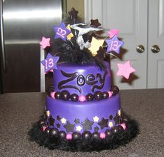 BIRTHDAY CAKES FOR A 11 YEAR OLD GIRL | cake this was a 2 tiered round birthday cake for a 13 year old girl ...