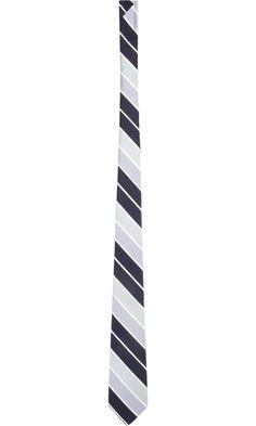Thom Grey. Regimental Stripe Tie