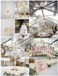 Inspirational Moments #67: White With Pale Pink - By  Elegant Weddings on a Budget
