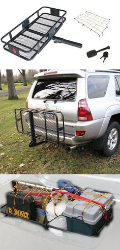 Car Racks 114254: Hitchmate Black Deluxe Fold-Up Cargo Carrier Kit W Cargo Webbing And Hitch Lock -> BUY IT NOW ONLY: $170.5 on eBay!