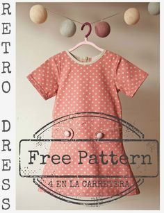 Retro Girls Dress Dec. 26th, 2013 5 Darling Dresses For Girls Post at Sewing Secrets a blog by Coats & Clark has a link in it for a free pattern for this little dress, plus four other pictures of little girl dresses to sew.