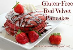 Curry and Comfort: Gluten-Free Red Velvet Pancakes from Gluten-Free is Easy E-Cookbook and Giveaway