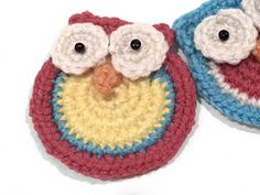 Ravelry: Crochet Owl Applique pattern by Whispered Whimsy