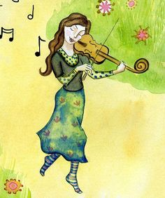 Musical Journey. Art print from my watercolour painting wall