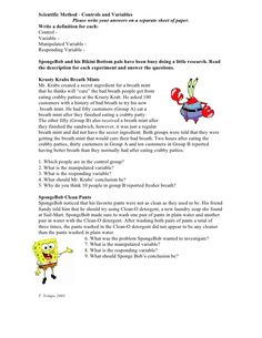 Spongebob Scientific Method Worksheets | Science | Pinterest ...