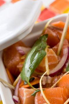 Saumon mariné au basilic