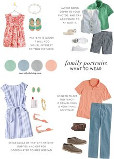 Weekend Wear: Dressing for Family Pictures Family Portraits What To Wear, Family Portrait Outfits, Family Photo Outfits, Family Photo Sessions, Mini Sessions, Family Photography Outfits, Clothing Photography, Photography Ideas, Beach Photography