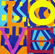 Robert Indiana collage. great artist statements