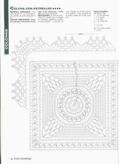 CROCHE GRAFICOS E RECEITAS: COLCHA DE CROCHE COM GRAFICOS