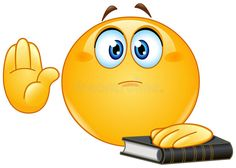 Taking oath emoticon. Emoticon taking oath or swearing. Raising his hand and put the other hand on a holy book vector illustration Emoticon Emoji, Smiley Emoji, Smiley Faces, Funny Emoji Faces, Cute Emoji, Wallpaper Emoticon, Stickers Emojis, Thumbs Up Sign, Emoji Symbols