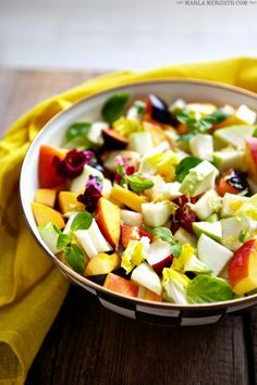 Fruit Salad with Lemon Honey Dressing | The perfect summer treat! | MarlaMeridith.com