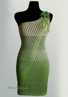 patrón de vestido de ganchillo