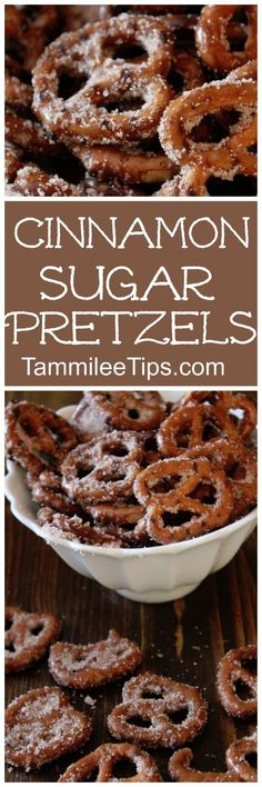 Super easy homemade Cinnamon Sugar Pretzels! Perfect for DIY Homemade holiday gifts! This sweet dessert recipe will become a family favorite in your house!
