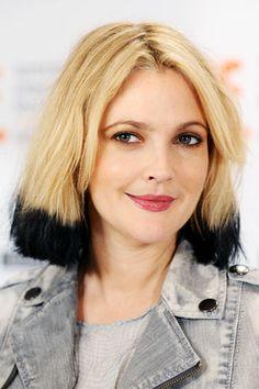 Drew Barrymore dip dyed hair