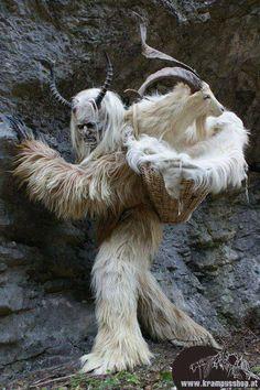 Krampus with Yule Goat