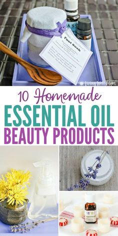 It's easy to make your own homemade essential oil beauty products (and cheaper than buying them in the store! Here are 10 tried-and-true favorites you'll love, from all-natural body wash to lip balm, foaming face wash to acne relief! Homemade Cleaning Products, Homemade Beauty Products, Natural Products, Natural Body Wash, Natural Face, Homemade Essential Oils, Pure Oils, Cleaners Homemade, How To Make Homemade