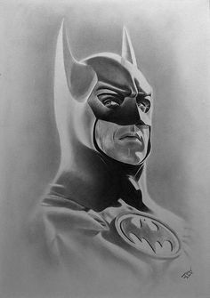 My drawing of Michael Keaton as Batman. Graphite on white paper. Batman Drawing, Batman Artwork, Batman Wallpaper, Marvel Drawings, Drawing Sketches, Cool Drawings, Pencil Drawings, Drawing Ideas, Im Batman