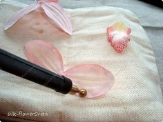 Мастер-класс: МК Ветка орхидеи.Цветы из ткани.День первый Ткань. Фото 25