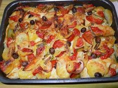 Good Friday Meals: Baked Baccala and potatoes
