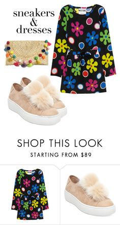 """""""Sneakers & dresses"""" by mirelaaljic ❤ liked on Polyvore featuring Moschino, Steve Madden and SNEAKERSANDDRESSES"""