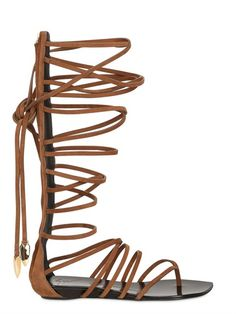 GIUSEPPE ZANOTTI - LEATHER GLADIATOR SANDALS. Would love a pair of these to add to my ever growing shoe collection
