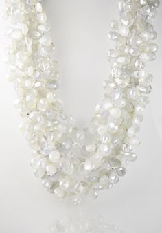 Patricia Von Musulin 6 Strand Grey Chalcedony Necklace