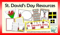 A great selection of Saint David's Day printables to download for the Foundation Phase - Early Years -  KS1 - kindergarten - Pre-School Teaching Resources, Teaching Ideas, Welsh Gifts, Saint David's Day, Patron Saints, Role Play, Pre School, Wales, Kindergarten
