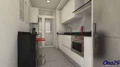 Cocina estrecha y corta | Decorar tu casa es facilisimo.com