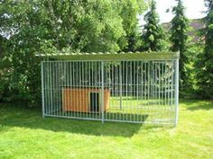 Costco akc 1039 x 1039 x 639 black powder coated dog kennel for Costco dog fence