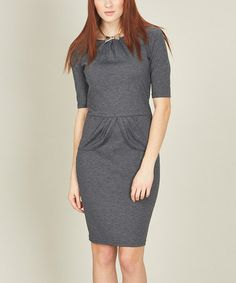Take a look at this Gray Marl Be Mine Pleat Dress by Sugarhill Boutique on #zulily today!