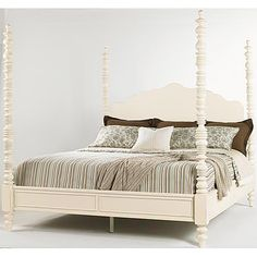 Lexington Long Cove Shell Series Queen Size Newport Poster Bed