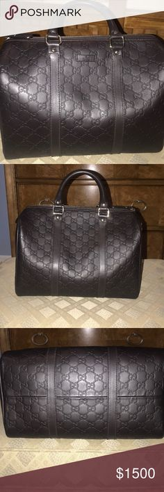1e5921b62bf7de Gucci handbag Gucci Boston bag in excellent condition used once! Flawless  color dark Brown.