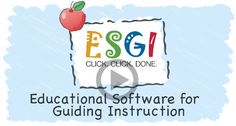 ESGI Educational Software for Guiding Instruction $199.00 per teacher per year