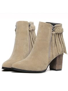 Shop Apricot Chunky Heel Tassel Zipper Boots online. SheIn offers Apricot Chunky Heel Tassel Zipper Boots & more to fit your fashionable needs.