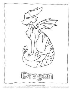 Dragon Cartoon Coloring Pages at www.wonderweirded-creatures.com/dragon-cartoon-coloring-pages.html , Fantasy Coloring Pages FREE to print