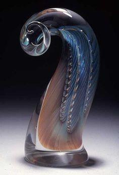 """*Art Glass - """"Majestic Horn"""" by Robert Burch"""