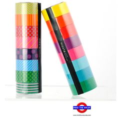 16 rolls  Masté Washi Tape Set  8 Bright Colorful by MindtheWrap