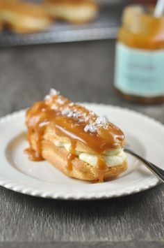 Salted Caramel Eclairs